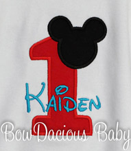 Boys Mickey Birthday Shirt, Personalized Name and Birthday Number, Long or Short Sleeves