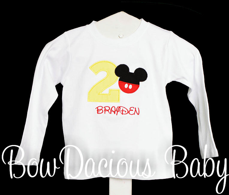Mickey Mouse Birthday Shirt, Boys Outfit, Boys Shirt, Birthday Outfit, Birthday, Boys Birthday Shirt, Mickey Mouse, Toddler, Baby, Disney