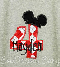 Mickey Mouse Clubhouse Birthday Shirt or Onesie, Custom, Any Age, Long or Short Sleeves