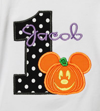 Pumpkin Mickey Mouse Birthday Shirt or Onesie, Custom, Any Age, Mickey's Not So Scary Halloween Party Birthday Shirt