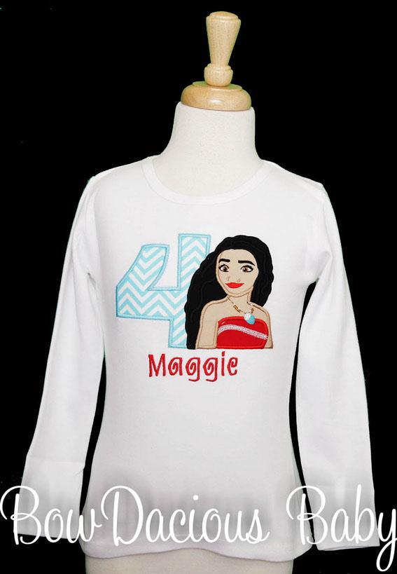 Moana Birthday Shirt, Custom