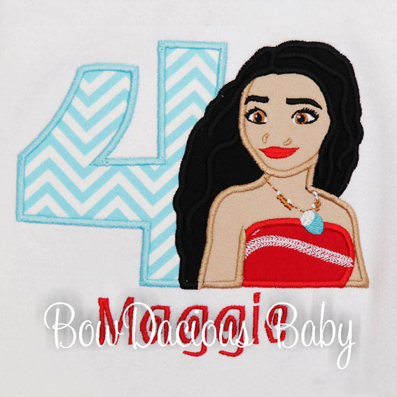 Moana Birthday Shirt, Custom