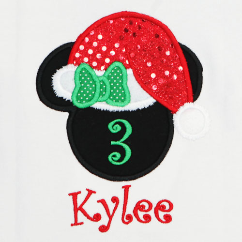 Christmas Minnie Mouse Birthday Shirt, Mrs. Claus Birthday Shirt, Custom