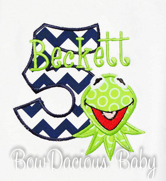 Custom Kermit Birthday Shirt or Onesie, Any Age