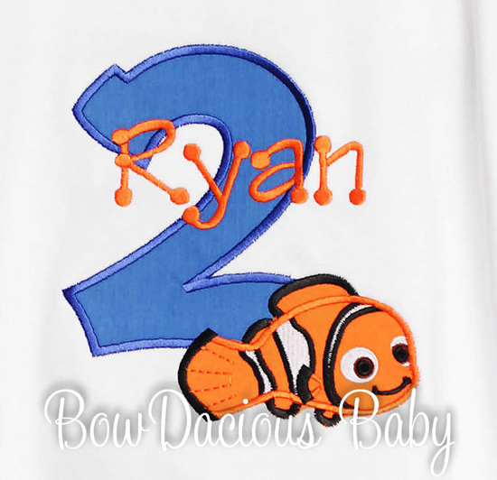 Boys Nemo Number Onesie Or Shirt, Custom, Any Age