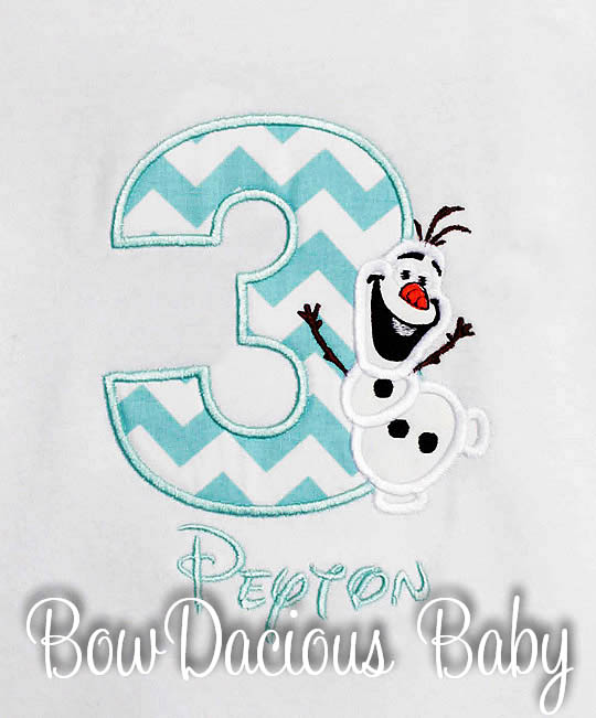 Olaf Birthday Shirt, Personalized, Boys, Girls, Custom, Shirt or Onesie