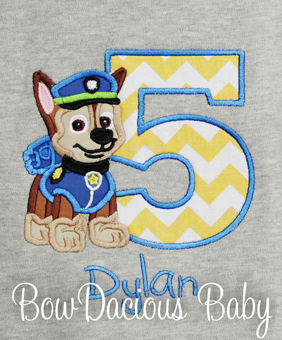 Custom Paw Patrol Birthday Shirt or Onesie