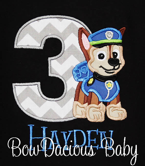 Boys Personalized Paw Patrol Birthday Shirt or Onesie, Custom Made To Your Specifications