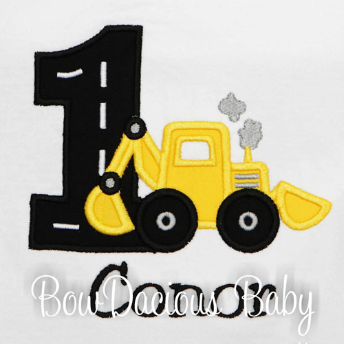 Backhoe Birthday Shirt, Custom Personalized Backhoe Birthday Shirt, Any Age