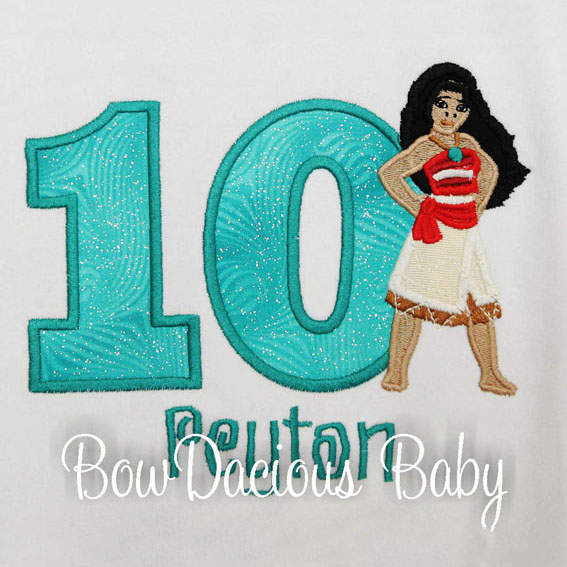 Moana Birthday Shirt or Onesie, Custom, Any Age
