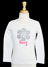 Girls Snowflake Shirt, Personalized, Custom