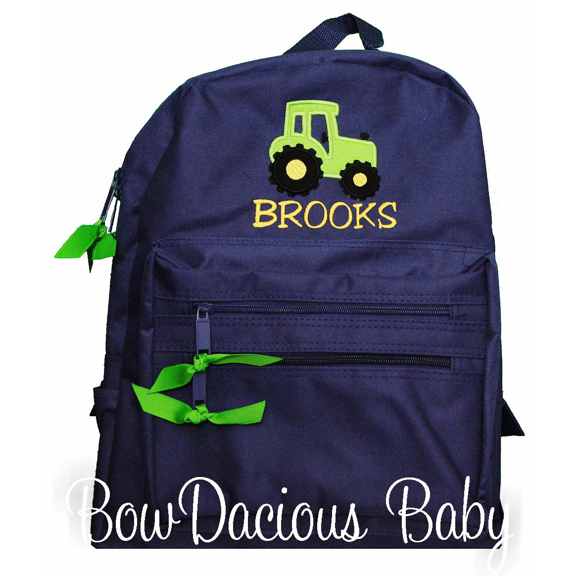 Tractor Personalized Backpack, Monogrammed, Custom