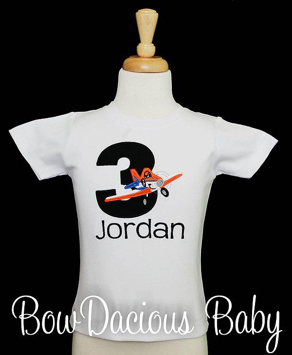 Dusty Planes Birthday Shirt, Custom, Personalized, Any Age