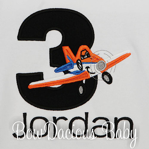 Dusty Planes Birthday Shirt, Custom, Personalized, Any Age