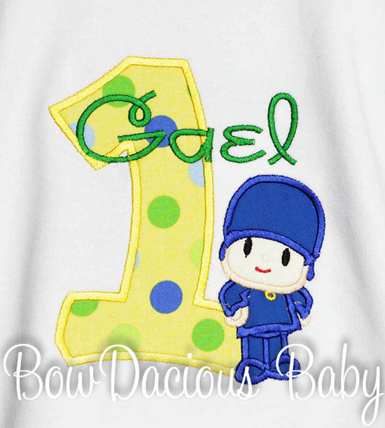 Pocoyo Birthday Shirt or Onesie, Custom, Any Age