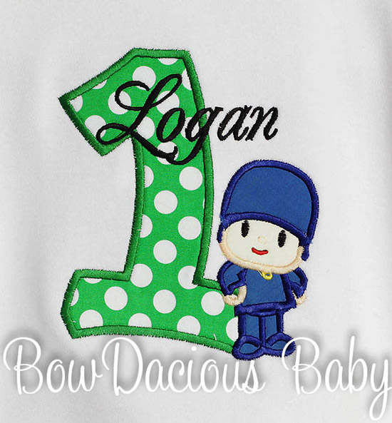 Custom Pocoyo Birthday Shirt or Onesie