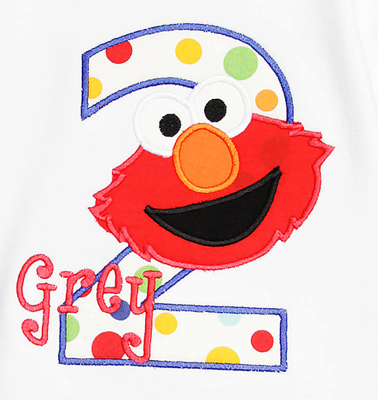 Boys Personalized Elmo Birthday Shirt, Any Age