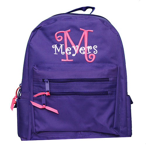 Girl's Monogrammed Backpack
