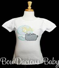 Pusheen Birthday Shirt or Onesie, Custom, Any Age, Any Colors