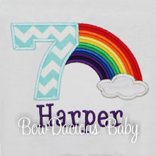 Rainbow Birthday Shirt for Girls Custom