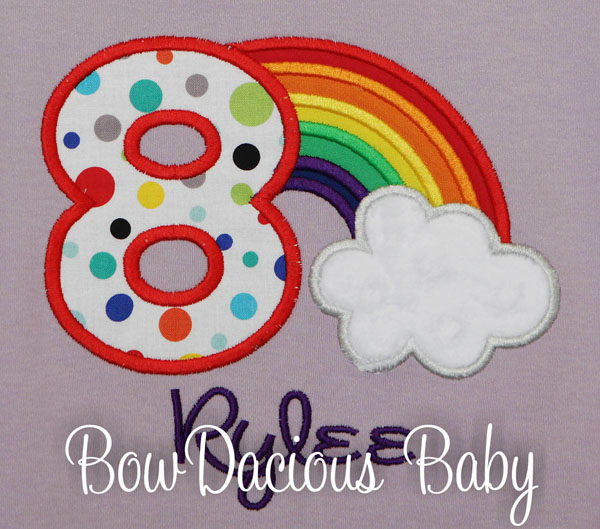 Rainbow Birthday Shirt (any age), Baby Girl Rainbow Theme Birthday Shirt or Onesie, Custom