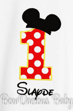 Mickey Mouse Birthday Shirt, Mickey Mouse Shirt or Onesie, Custom, Any Age