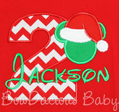 Mickey Mouse Christmas Birthday Shirt, Custom, Any Age