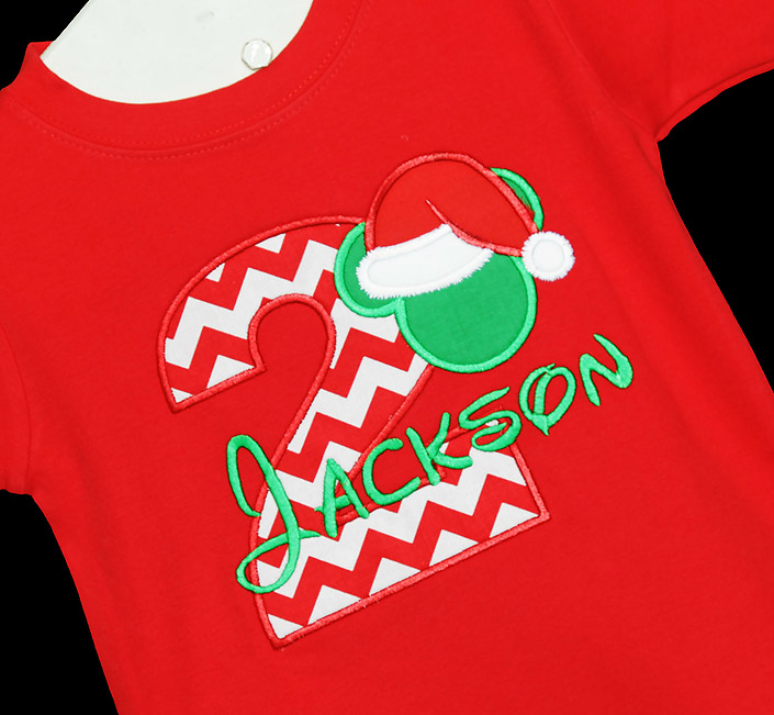 Mickey Mouse Christmas Birthday Shirt, Custom, Any Age