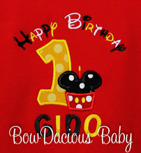 Mickey Mouse birthday Shirt, Custom, Any Age, Shirt or Onesie