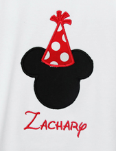1st BIRTHDAY Mickey Hat Boy Shirt Or Onesie Disney Font Applique Personalized You Pick