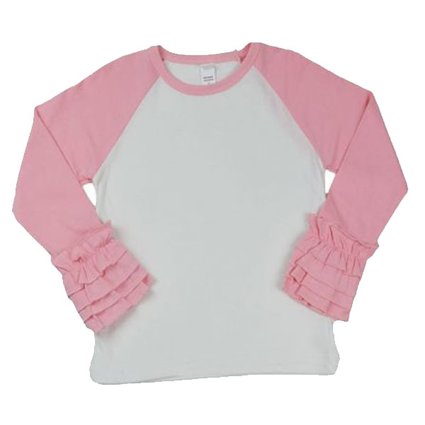 *Upgrade* Ruffle Sleeve Raglan *MUST* Be Purchased with a Design Shirt