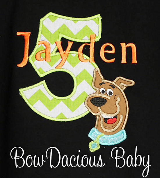 Scooby Doo Birthday Shirts and Onesies