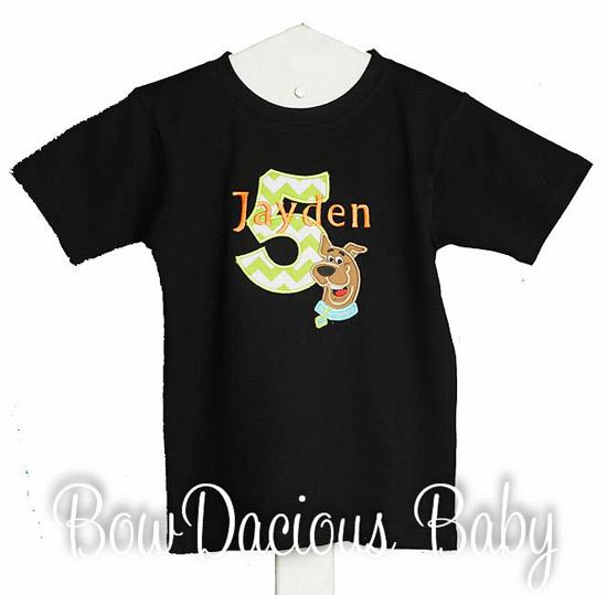 Scooby Doo Birthday Shirt, Personalized, Custom, Any Age