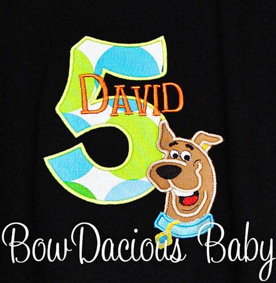 Boys Scooby Doo Birthday Shirt