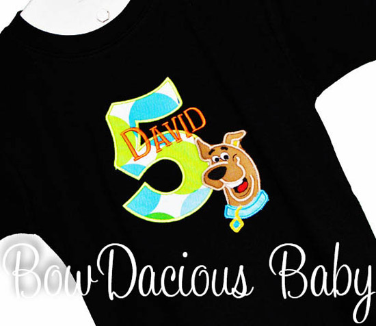Boys Scooby Doo Birthday Shirt