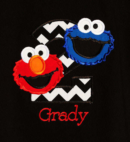 Sesame Street Birthday Shirt or Onesie, Custom
