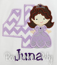 Sofia the First Birthday Shirt or Onesie, Custom, Any Age, Any Colors