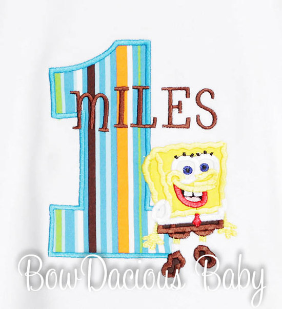 Spongebob Birthday Shirt, Custom, Any Age