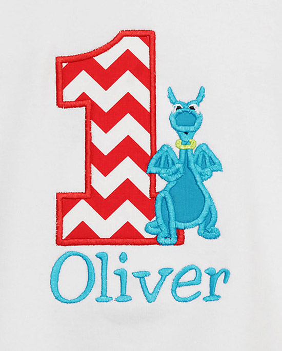 Stuffy the Dragon personalized Birthday Shirt or Onesie, Custom