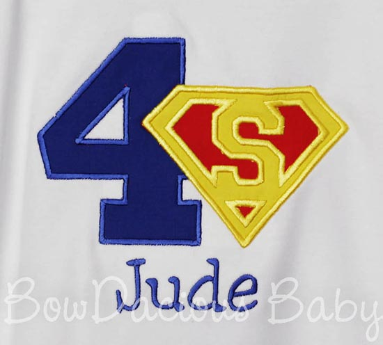 Superman Birthday Shirt or Onesie, Custom, Any Age