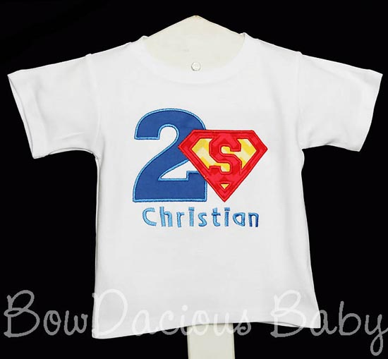 Superman Birthday Shirt or Onesie