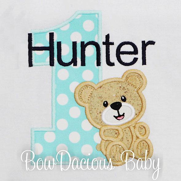 Personalized Teddy Bear Birthday Shirt, Custom, Any Age, Boys or Girls