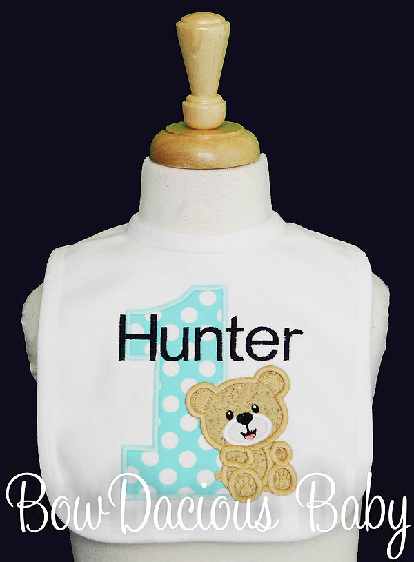 Personalized Teddy Bear Birthday Outfit, Custom, Any Colors, Any Age