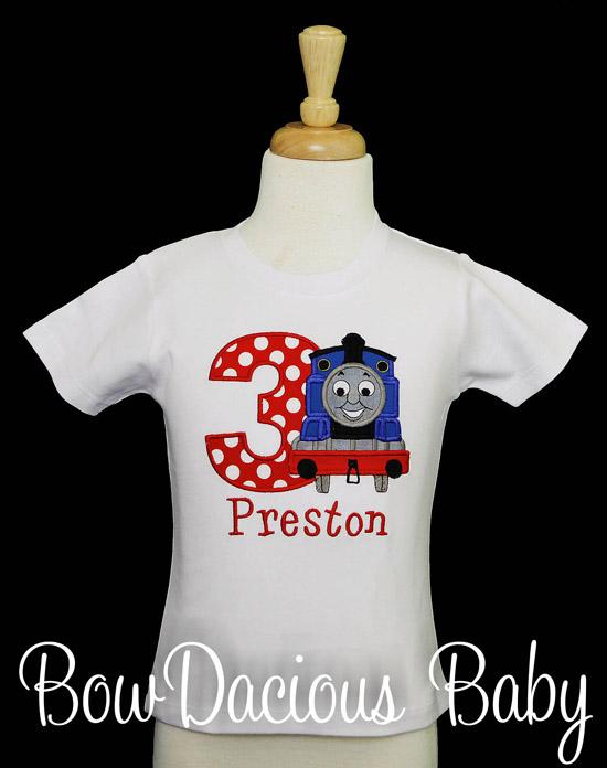 Thomas the Train Birthday Shirt, Personalized with Name & Age, 1st 2nd 3rd 4th 5th 6th 7th 8th 9th Birthday T Shirt, CUSTOM
