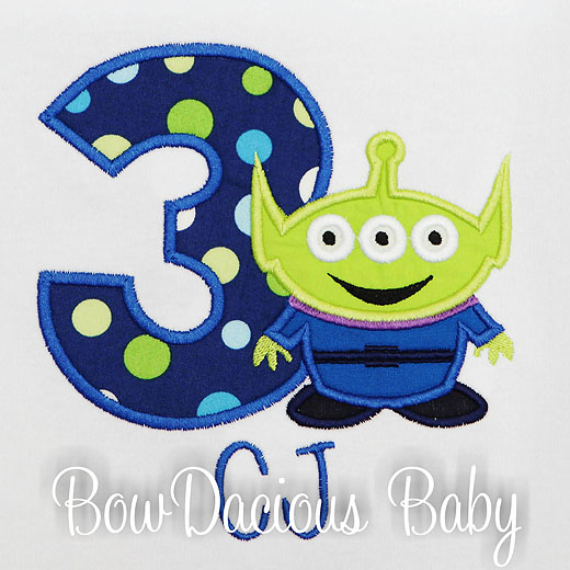 Toy Story Birthday Shirt, Toy Story Alien Birthday Shirt, Custom, Any Age, Any Colors, Personalized