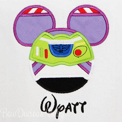 Toy Story Mouse Ears Appliqued Shirt, Buzz, Family Vacation Shirts