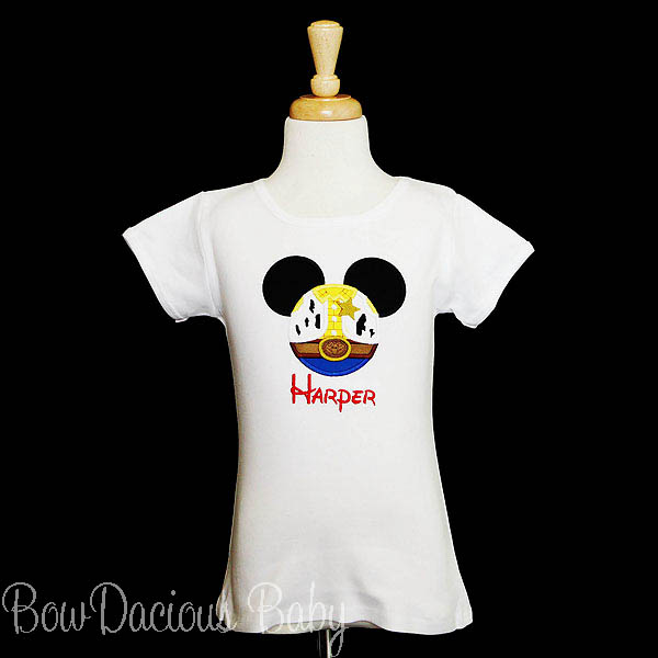Toy Story Mouse Ears Appliqued Shirt, Woody, Family Vacation Shirts