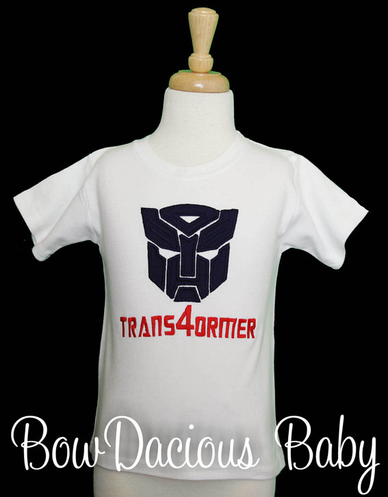Transformers 4th Birthday Shirt, Custom, Any Colors