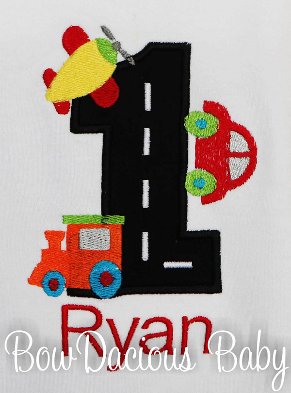 Transportation Vehicles Birthday Shirt, Personalized, Custom, Any Age