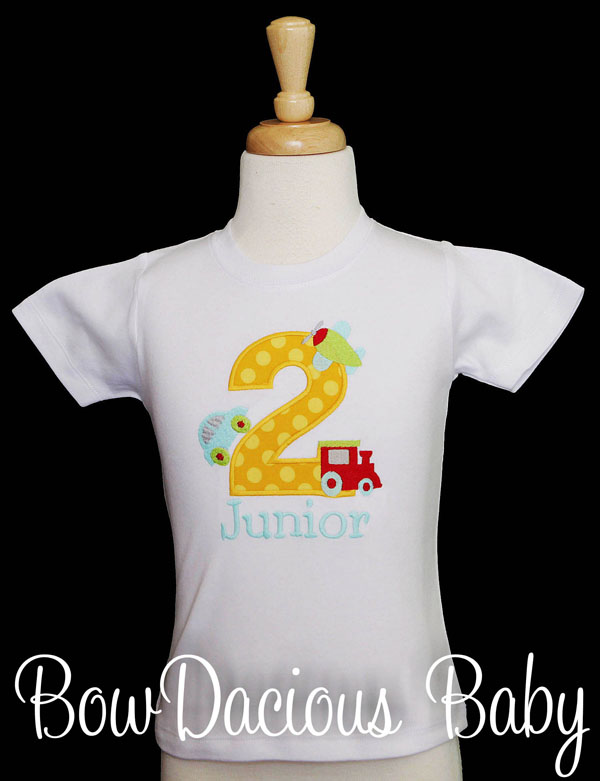 Transportation Vehicles Birthday Shirt, Personalized, Any Colors, Any Age